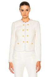 Veronica Beard Betsy Lace Back Tweed Jacket In White