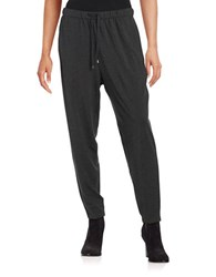 Eileen Fisher Petite Tapered Drawstring Pants Charcoal