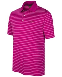Greg Norman For Tasso Elba Men's 5 Iron Performance Striped Golf Polo Victorian Rose