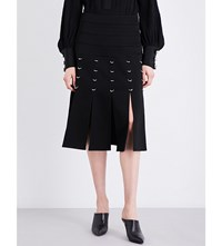 Prabal Gurung Ring Embellished Woven Shirt Black