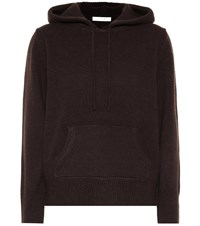 The Row Nassam Cashmere Hoodie Brown