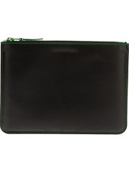 Comme Des Garcons Play Zip Wallet Black