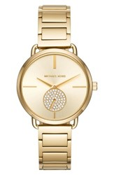Michael Michael Kors Women's Portia Round Bracelet Watch 36.5Mm Gold