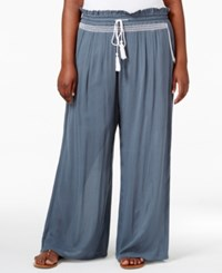 Ny Collection Plus Size Palazzo Pants Blue Metaldust