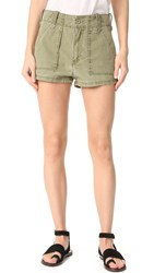 Free People High Waisted Military Shorts Moss