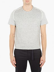 Wooyoungmi Grey Knitted Front T Shirt