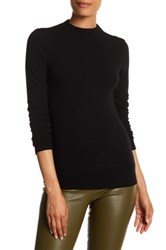 Alice Olivia Genova Mock Neck Long Sleeve Shirt Black