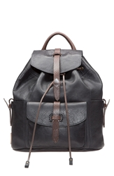 Will Leather Goods 'Rainier' Leather Backpack Black Dark Brown