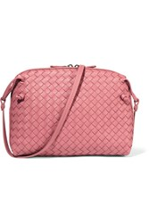 Bottega Veneta Messenger Small Intrecciato Leather Shoulder Bag Antique Rose