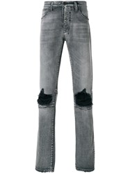 Unravel Project Distressed Basic Skinny Jeans Grey