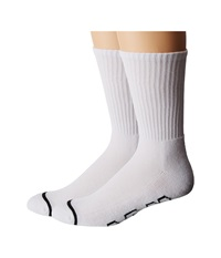 Huf 2 Pack Basics White Crew Cut Socks Shoes