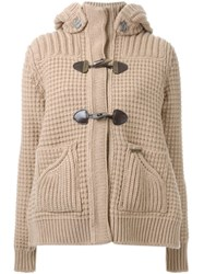 Bark Toggle Button Knit Coat Nude And Neutrals