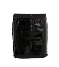 Tom Ford Embossed Patent Leather Miniskirt Black