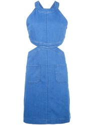 Stella Mccartney Cut Out Dress Blue