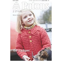 Patons Wool Aran Children's Cardigan Knitting Pattern
