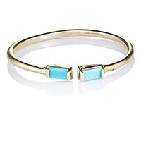 Loren Stewart Women's Baguette Turquoise Cuff Ring No Color