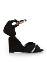 Pierre Hardy Amanda Suede And Leather Wedge Sandals