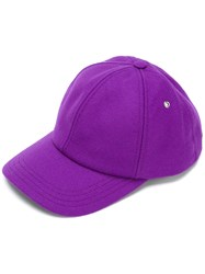 Ami Alexandre Mattiussi Baseball Cap Men Virgin Wool Polyimide One Size Pink Purple