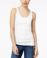 Style And Co Racer Back Tank Top Only At Macy's Bright White