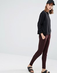Vero Moda Knitted Staight Leg Trousers Chocolate Brown
