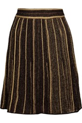 M Missoni Metallic Crochet Knit Skirt Black