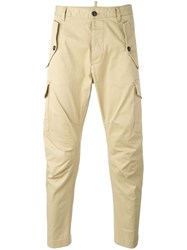 Dsquared2 Sexy Cargo Trousers Nude Neutrals