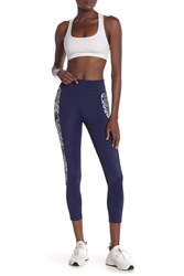 Tommy Bahama Active Printed Panel Leggings Mare Navy