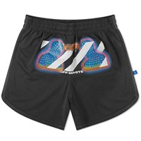 Off White Thermo Mesh Short Black