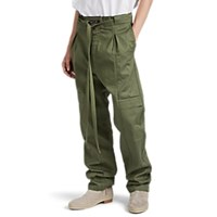 Fear Of God Cotton Drawstring Cargo Trousers Green