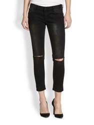 One Teaspoon Iggys Washed Distressed Cropped Skinny Jeans Revelator