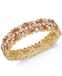 Charter Club Crystal Stretch Bracelet Created For Macy's Rose Peach