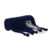 Loewe Stitches Mohair Scarf Navy White