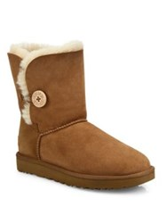 Ugg Classic Bailey Short Button Boots Chestnut Grey Black