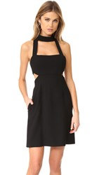 Jill Stuart Halter Cutout Mini Dress Black