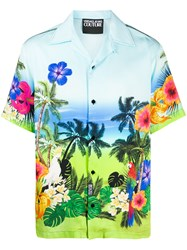 Versace Jeans Couture Tropical Island Print Shirt 60