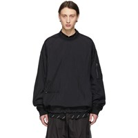 Juun.J Black 'The Altered Tech' Zippered Sweatshirt