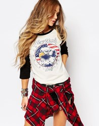 Denim And Supply Ralph Lauren Denim And Supply By Ralph Lauren Baseball T Shirt With Eagle Print Multi