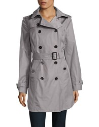 Michael Kors Belted And Hooded Trench Coat Nickel