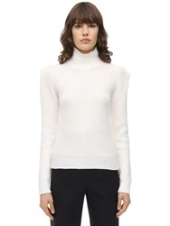 L'autre Chose Wool Blend Knit Sweater White