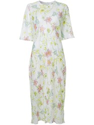 Georgia Alice Pageant Floral Dress Polyester White
