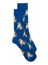 Topman Blue Bulldog Socks