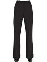 Chloe Flared Wool Twill Pants
