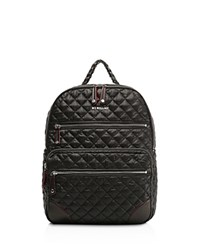 M Z Wallace Mz Crosby Backpack Black Silver