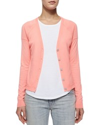 J Brand Ready To Wear Gia Cashmere Button Front Cardigan Flamingo Pink