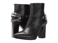 Love Moschino Ankle Boot With Heel Chain Logo Black Women's Boots