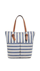 Splendid Bodega Tote Metallic Stripe Blue