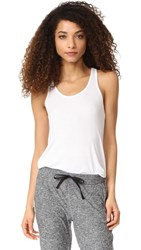 Beyond Yoga On And Off Ribbed Racer Tank White