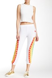 Lauren Moshi Alana Rainbow Heart Sweatpant White