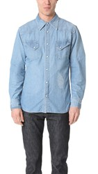 Remi Relief Western Shirt Used Blue
