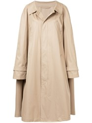 Nehera Oversized Trench Coat With Sleeve Detail Cotton Brown